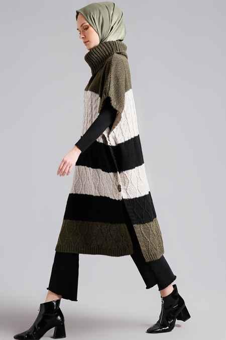 Boğazlı Şık Tesettür Triko Tunik Modelleri