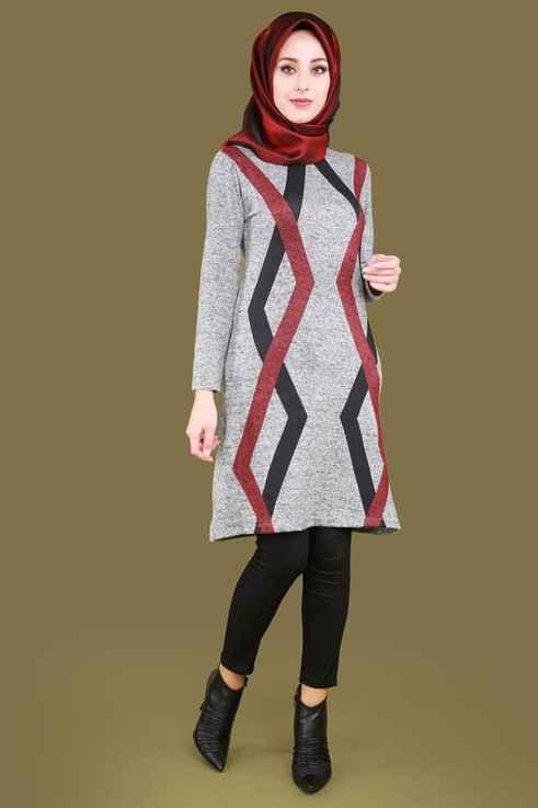 En Şık Tesettür Triko Tunik Modelleri
