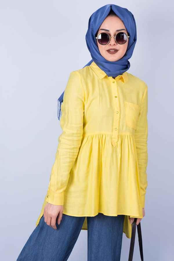 En Şık Tesettür Tunik Gömlek Modelleri