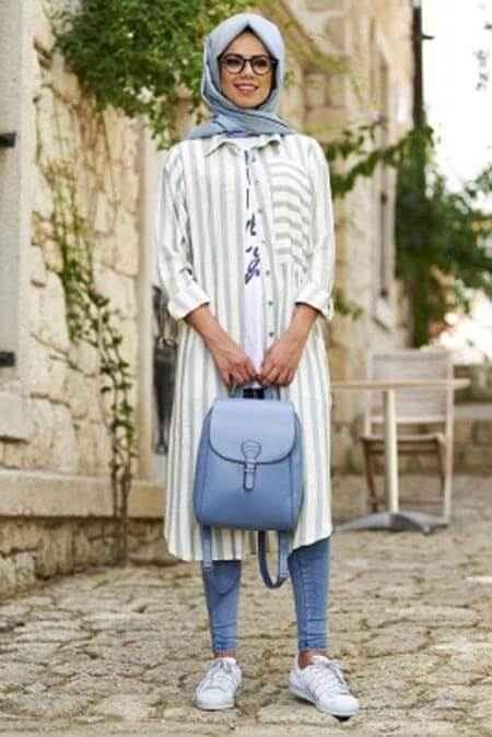 En Güzel Tesettür Tunik Gömlek Modelleri