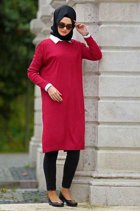 Neva Style Tesettür Triko Tunik Modelleri