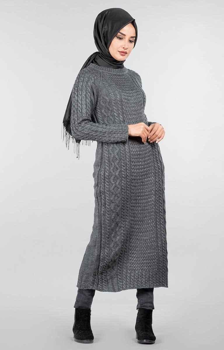 Uzun Tesettür Triko Tunik Modelleri