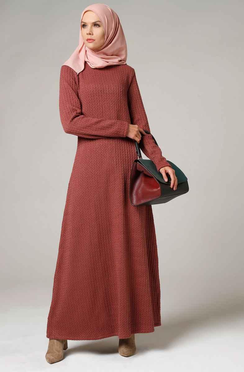 Şık Tesettür Triko Elbise Modelleri
