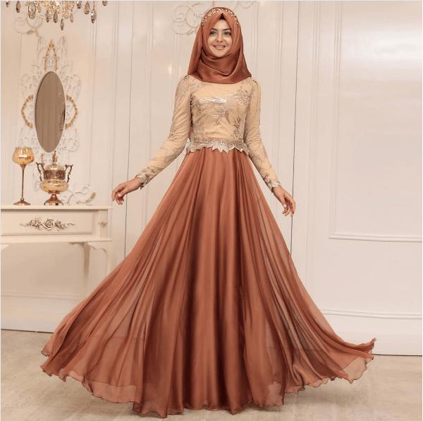 2018 Tesettür Abiye Modelleri