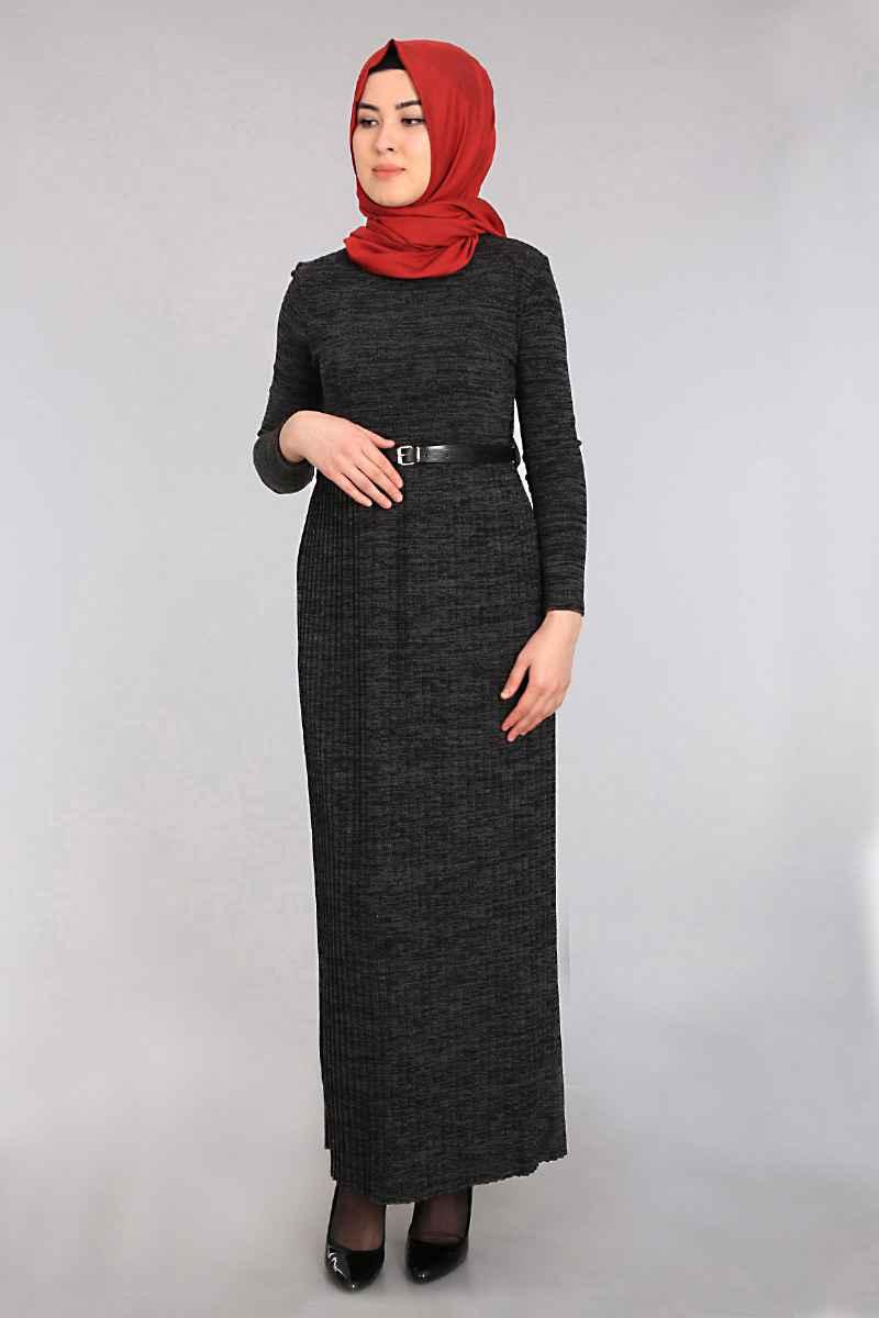 Bigdart Tesettür Triko Elbise Modelleri