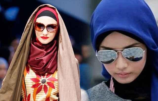Güneş Gözlüğü Modern Tesettür Kombini