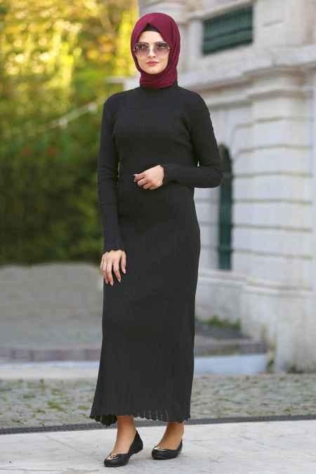Neva Style Tesettür Triko Elbise Modelleri