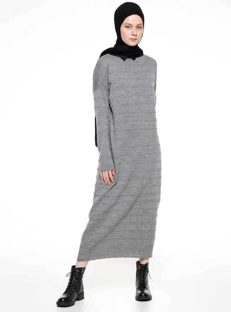 Zentoni Tesettür Triko Elbise Modelleri