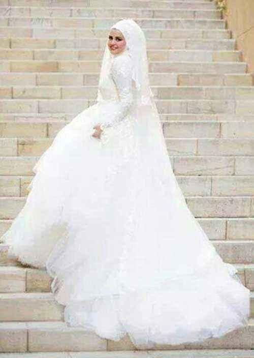 Şık Tesettür Prenses Gelinlik Modelleri