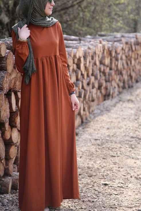 Şık Tesettür Robalı Elbise Modelleri