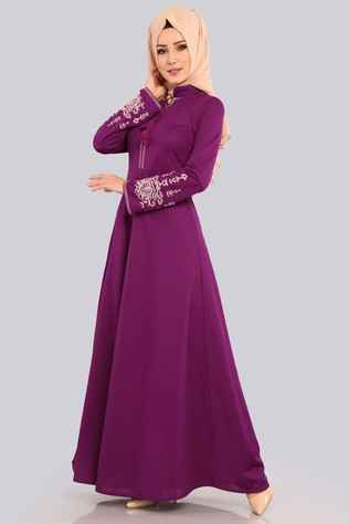 Şık ve Özel Modaselvim Tesettür Elbise Modelleri