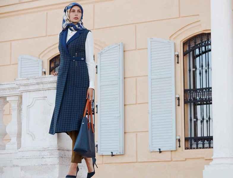 267403cab4da1 2015-2016 Kayra Sonbahar Tesettür Yelek Modelleri - Moda Tesettür Giyim