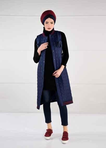 105a6a5edba67 Alvina Sonbahar-Kış Tesettür Yelek Modelleri - Moda Tesettür Giyim