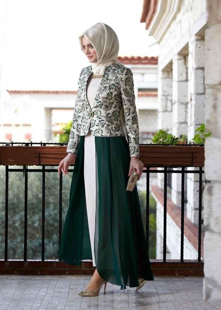Alvina Tesettür Elbiseli Takım Modelleri