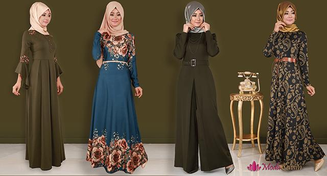 En Şık Modaselvim Tesettür Elbise Modelleri