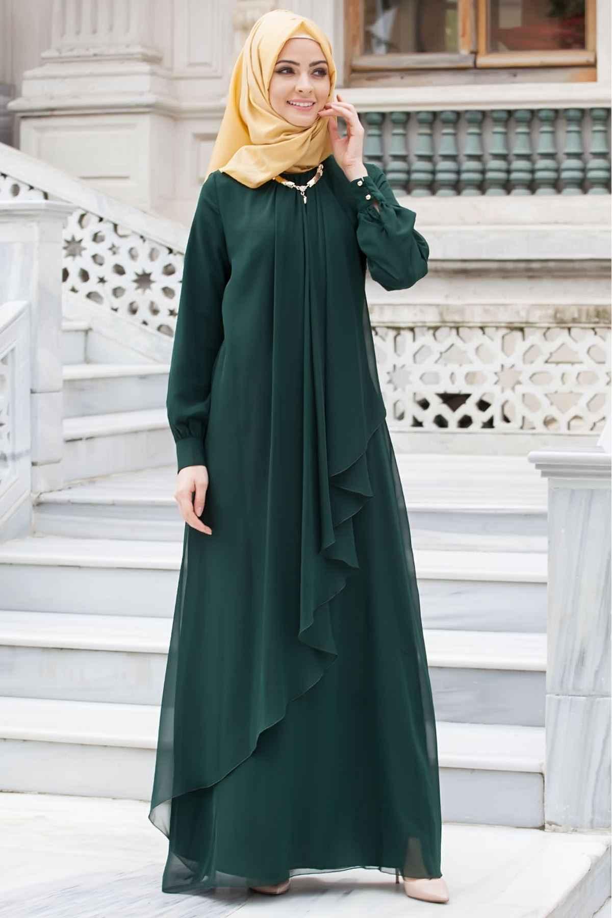 En Şık Tesettür Abiye Elbise Modelleri