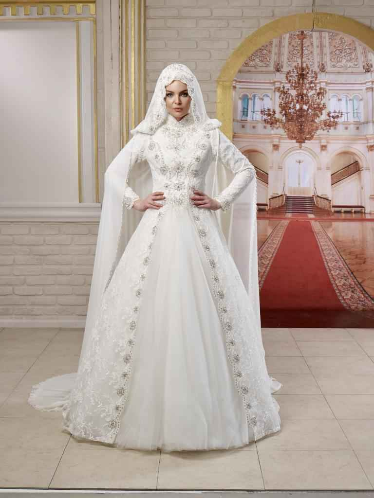 En Şık Tesettür Prenses Gelinlik Modelleri
