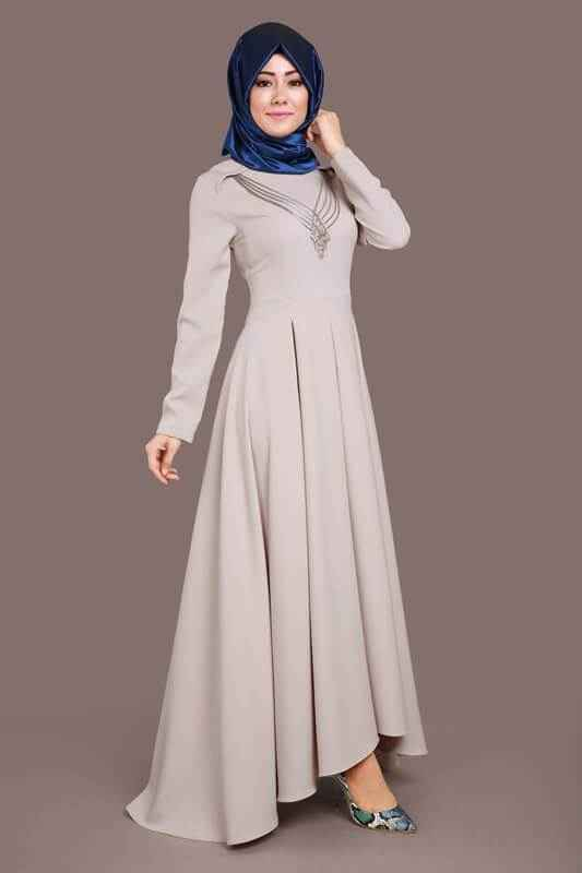 En Güzel Modaselvim Tesettür Elbise Modelleri