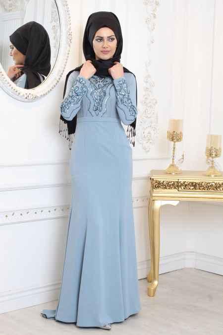 cbe44f07edfb4 En Güzel ve Şık Tesettür Abiye Elbise Modelleri - Moda Tesettür Giyim