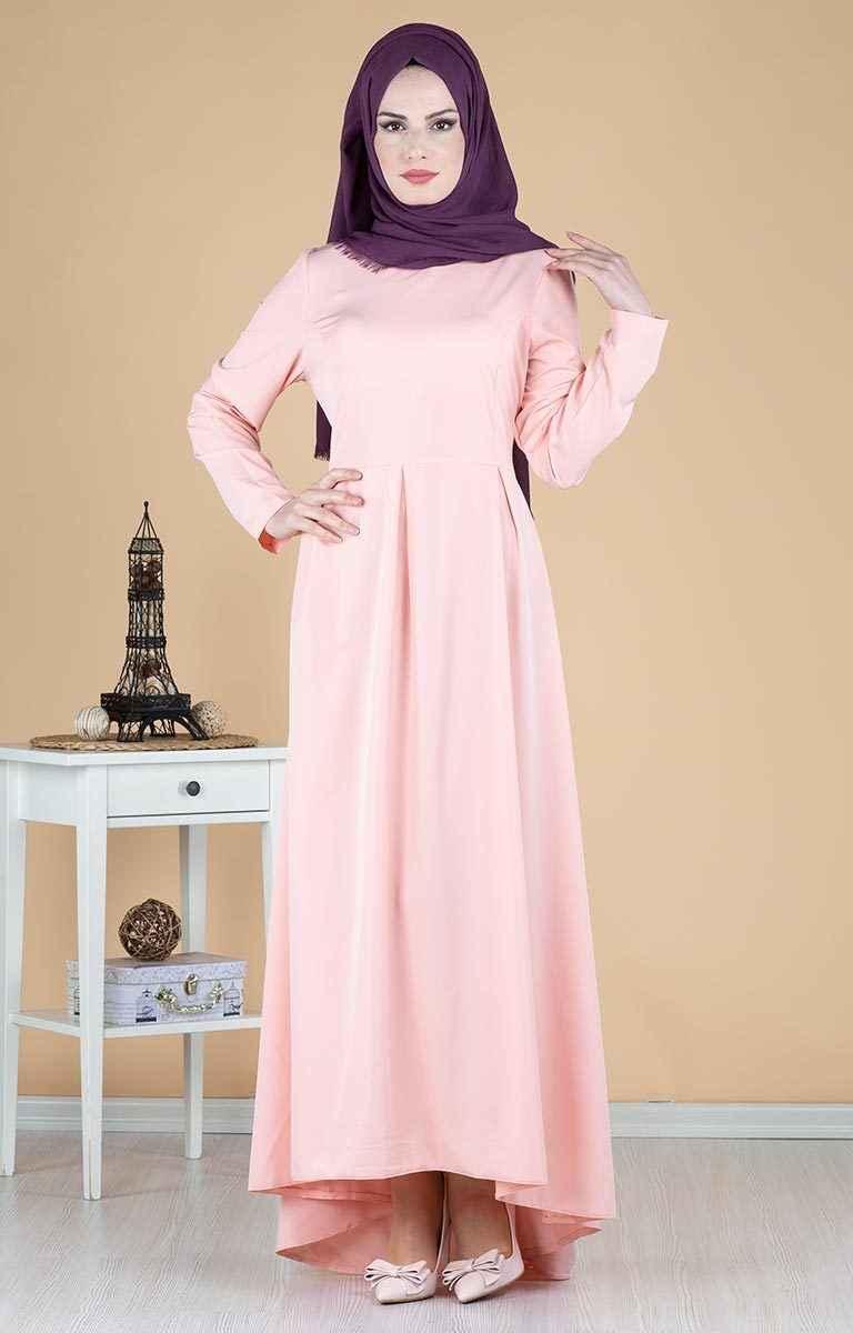 Kuyruklu Şık Tesettür Abiye Elbise Modelleri