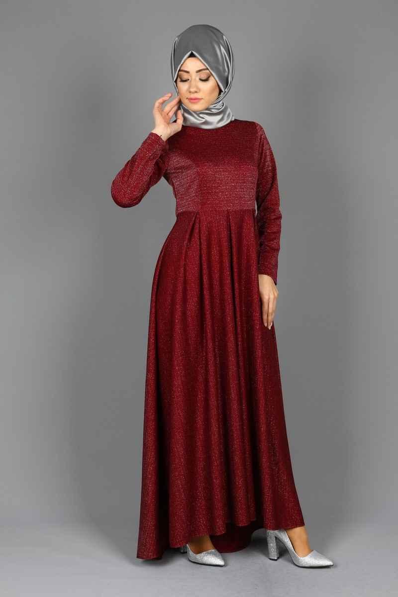 Kuyruklu Tesettür Abiye Elbise Modelleri