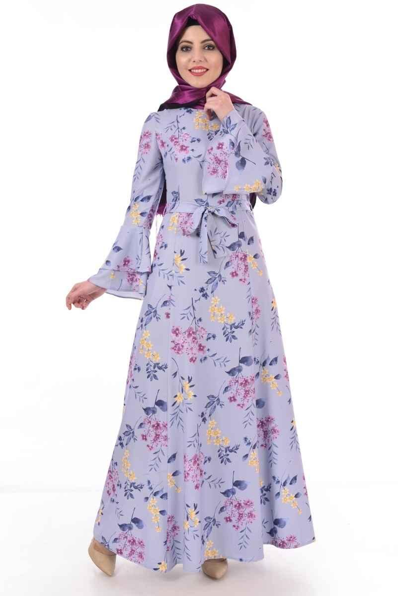 0fa7982b035b7 Modamerve Çiçek Desenli Elbise Modelleri - Moda Tesettür Giyim