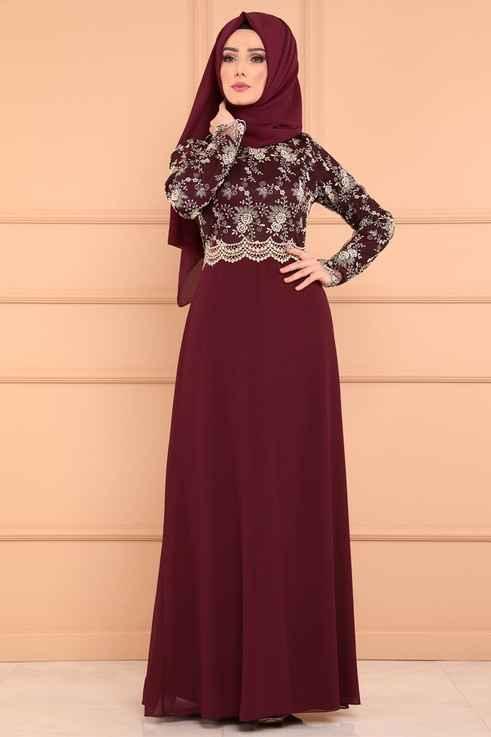 Modaselvim Şık Tesettür Abiye Elbise Modelleri