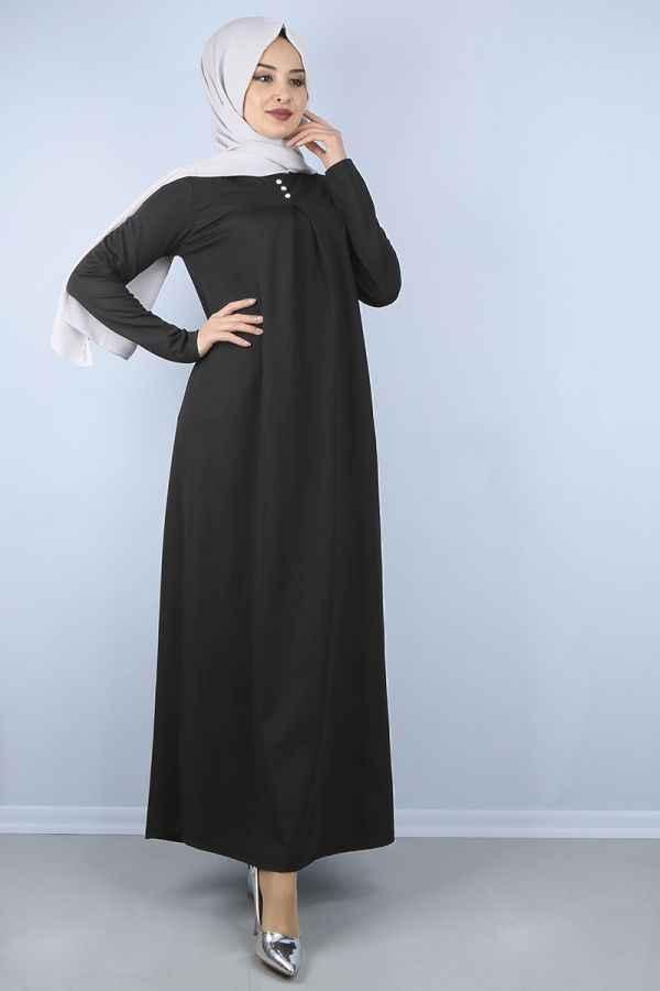 Modern Tesettür Robalı Elbise Modelleri