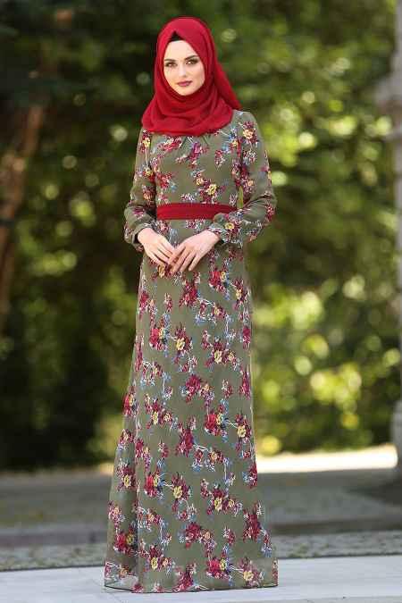 Neva Style Tesettür Şifon Elbise Modelleri