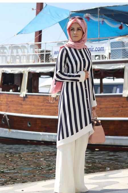 Pınar Şems Çizgili Tunik Modelleri