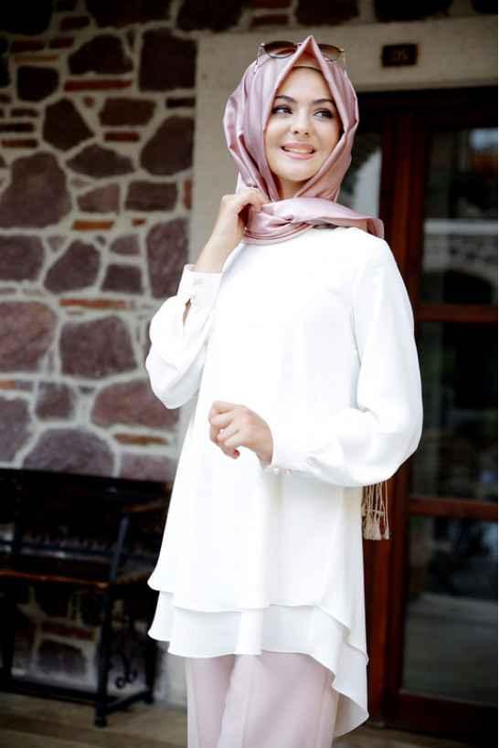 Pınar Şems Beyaz Tunik Modelleri