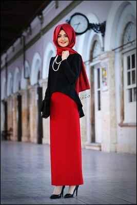 Pınar Şems Tesettür Etek Gömlek Kombinleri