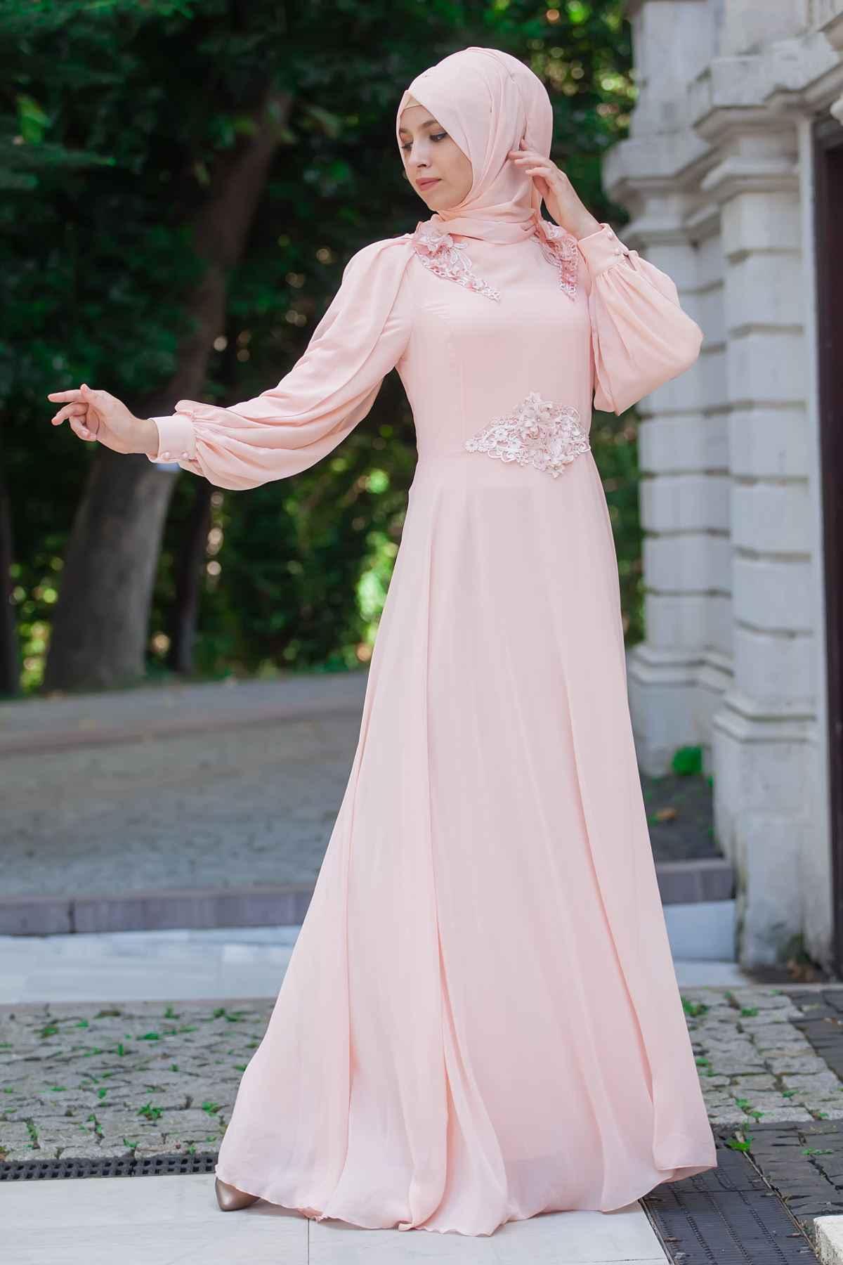 Sedanur Şık Tesettür Abiye Elbise Modelleri