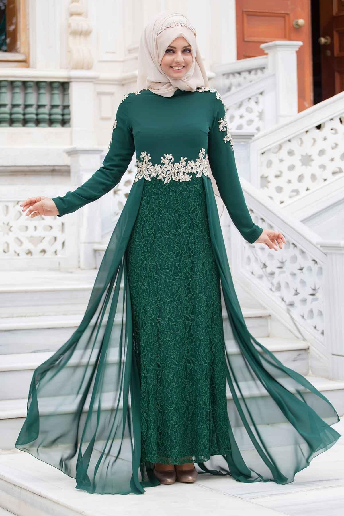 Sedanur Tesettür Abiye Elbise Modelleri
