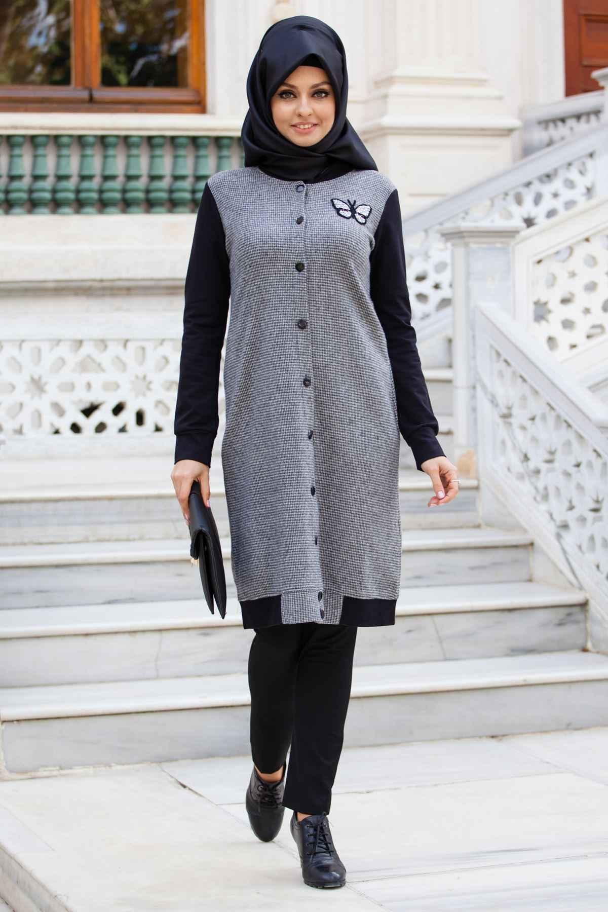 Sedanur Tesettür Kışlık Tunik Modelleri