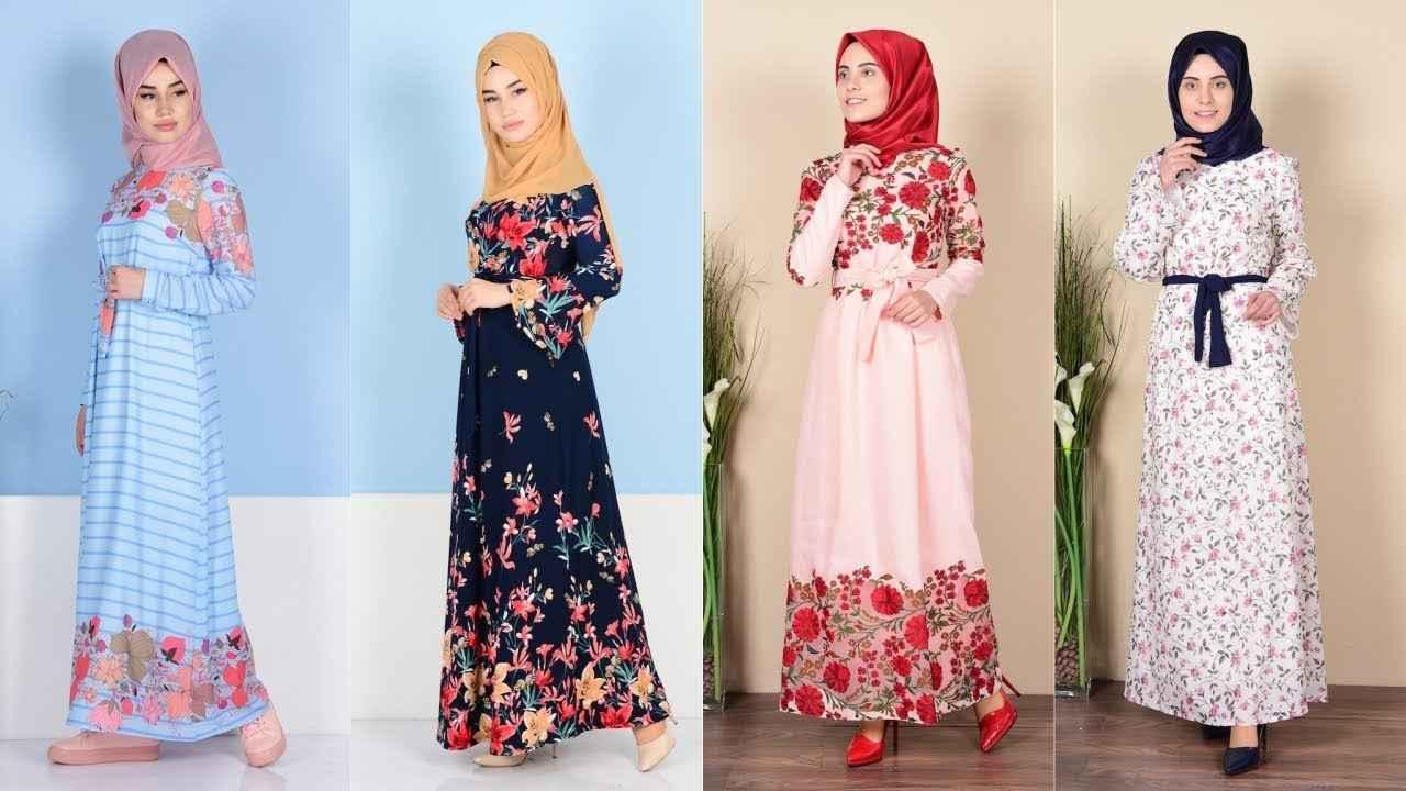 a990f2b6786fc Sefamerve Çiçekli Tesettür Elbise Modelleri - Moda Tesettür Giyim