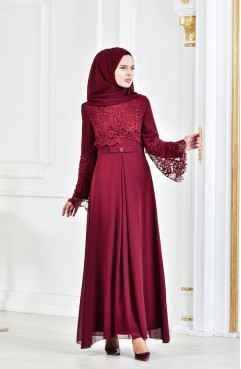 b885e88040108 Sefamerve En Şık Tesettür Abiye Elbise Modelleri - Moda Tesettür Giyim