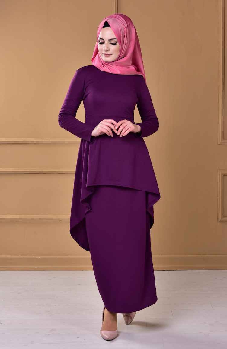 Sefamerve Tesettür Etek Bluz 2'li Takım Modelleri