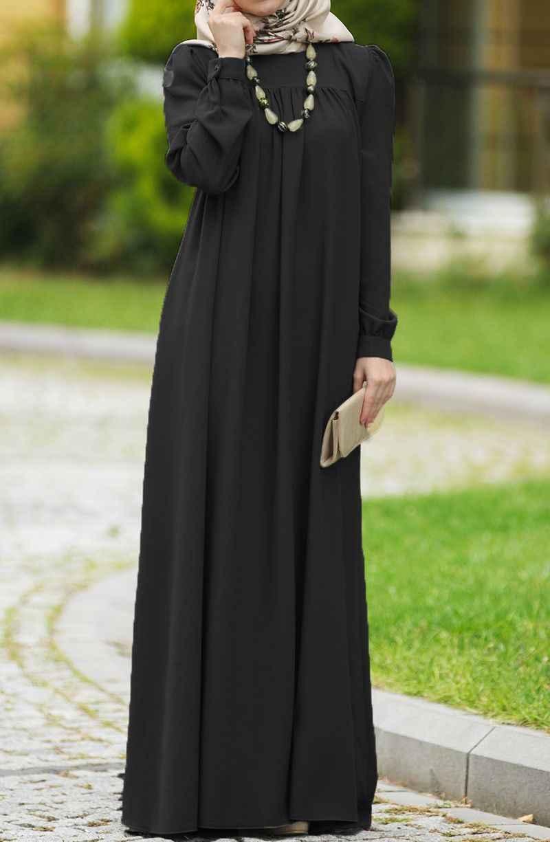 Suhneva Şık Tesettür Robalı Elbise Modelleri