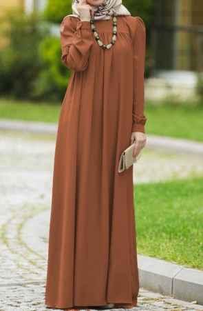 Suhneva Tesettür Robalı Elbise Modelleri