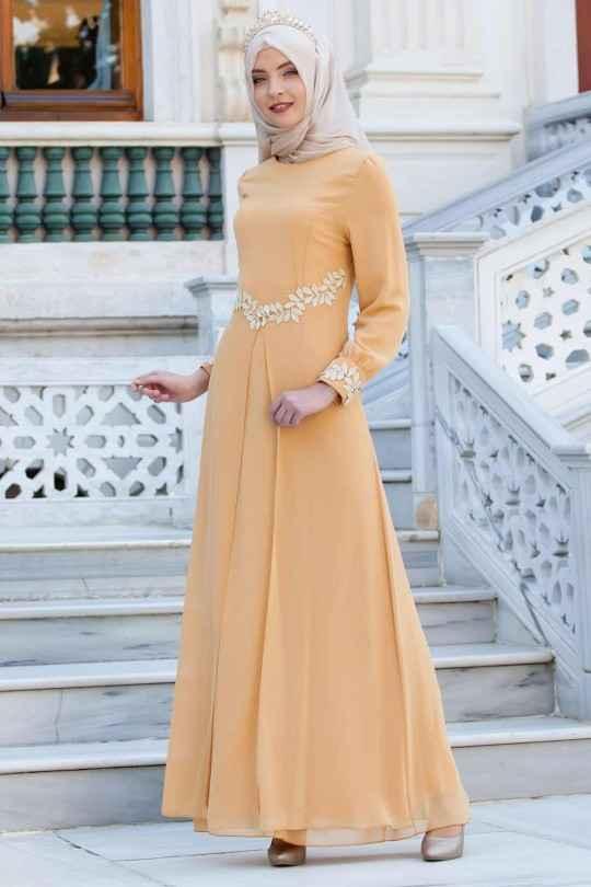 Tesettür Şifon Abiye Elbise Modelleri