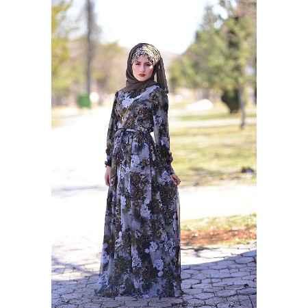 Tesettür Şifon Elbise Modelleri