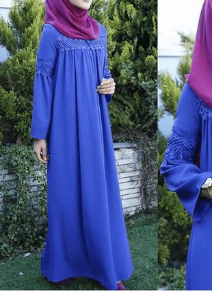 Tesettür Dantelli Robalı Elbise Modelleri