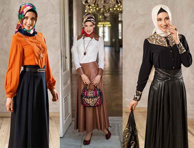 Tesettür Deri Giyim Modelleri