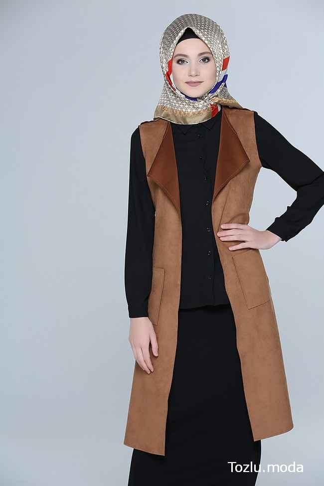 Tozlu Giyim Sonbahar Tesettür Yelek Modelleri