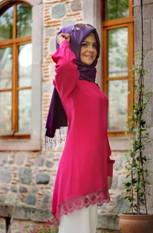 Ucu Dantelli Pınar Şems Tunik Modelleri