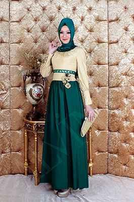Alvina Şık Tesettür Abiye Elbise Modelleri