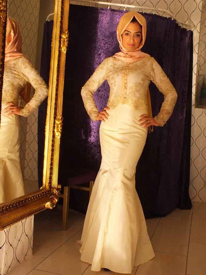 En Güzel Tesettür Balık Abiye Elbise Modelleri