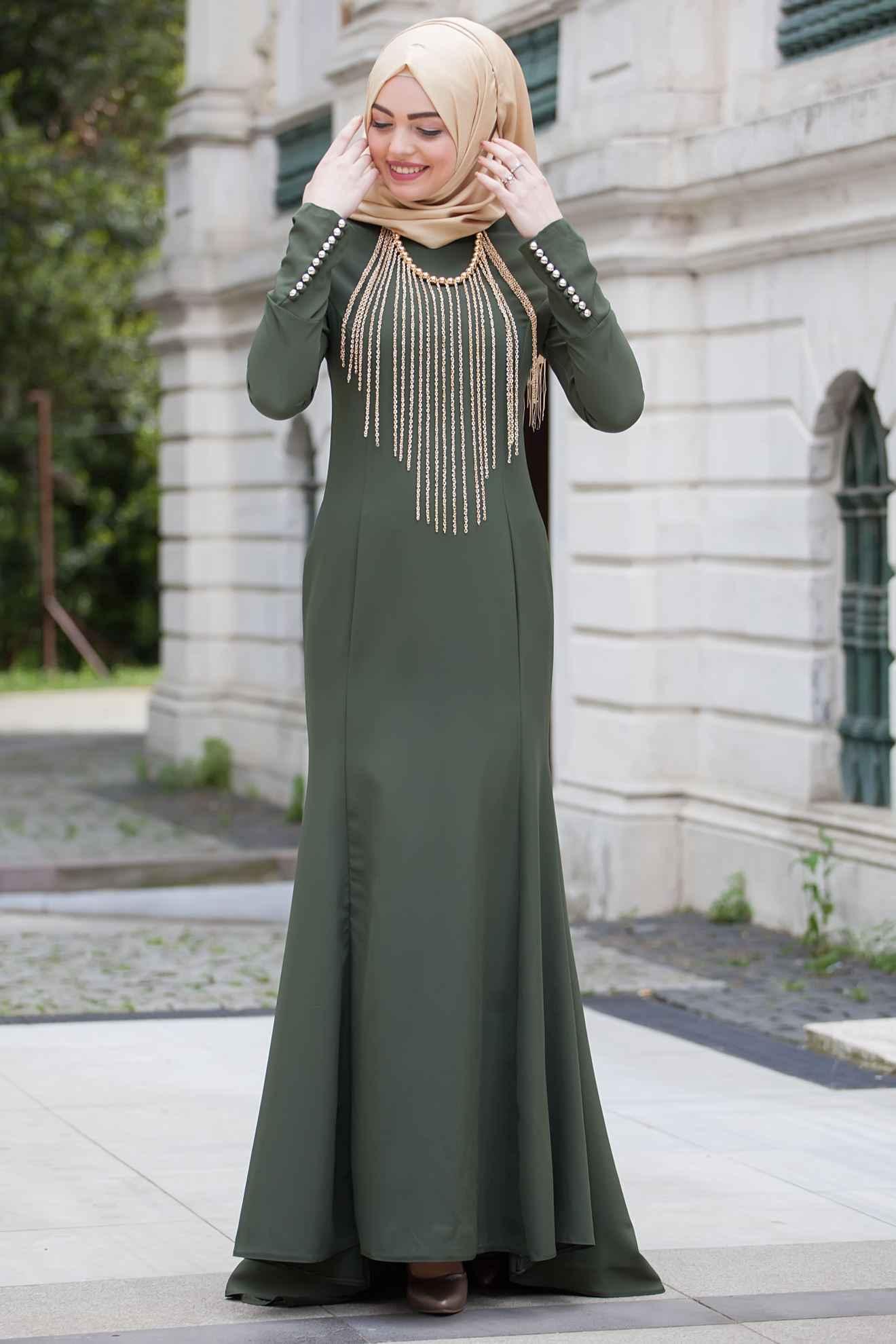 97bd3e69bf987 Tesettür Balık Abiye Elbise Modelleri | Moda Tesettür Giyim