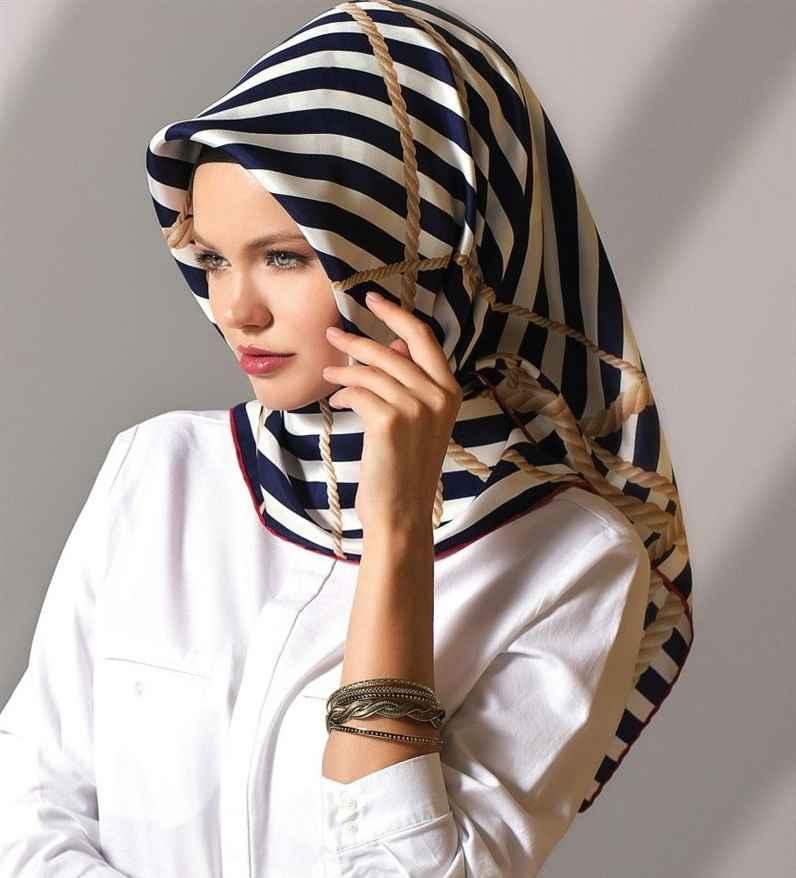 Zebra Desenli Kışlık Eşarp Modelleri